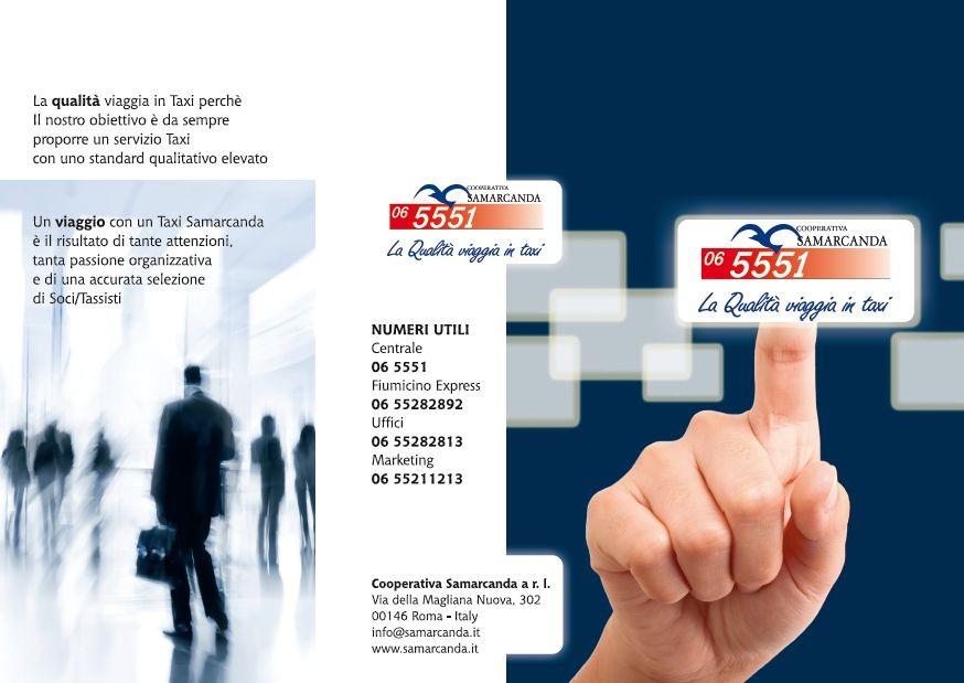 Cooperativa Taxi Samarcanda - Depliant presentazione azienda