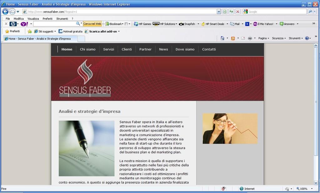 Sensus Faber - Realizzazione sito web www.sensusfaber.com