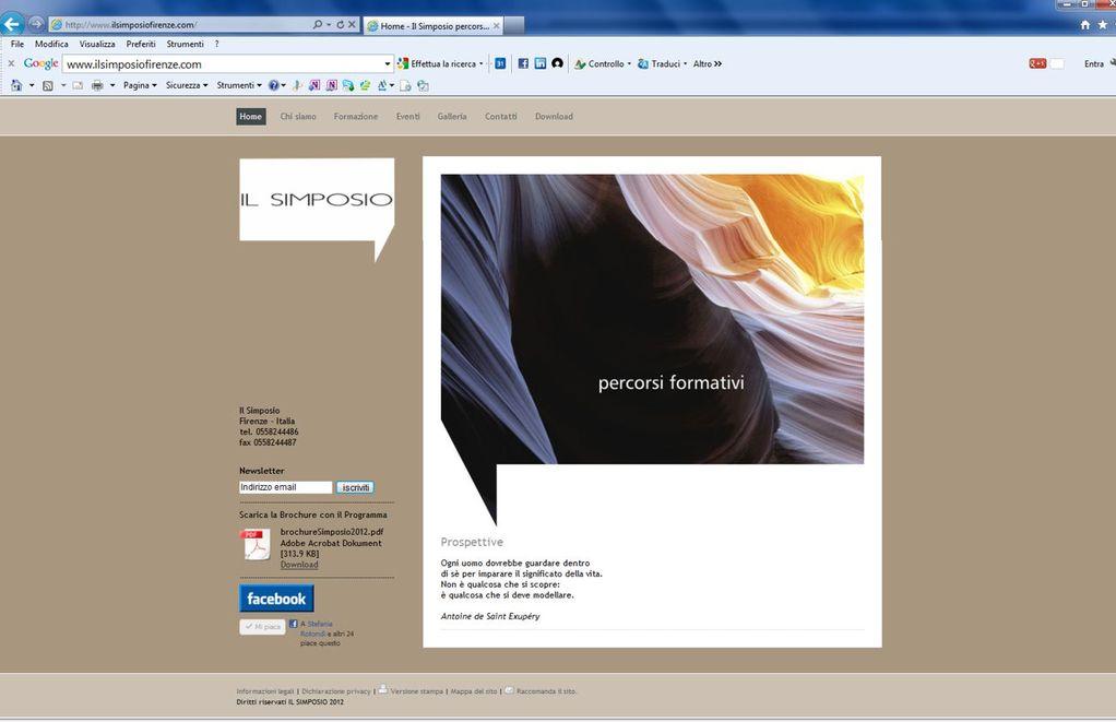 Il Simposio - Percorsi Formativi - Realizzazione sito web www.ilsimposiofirenze.com