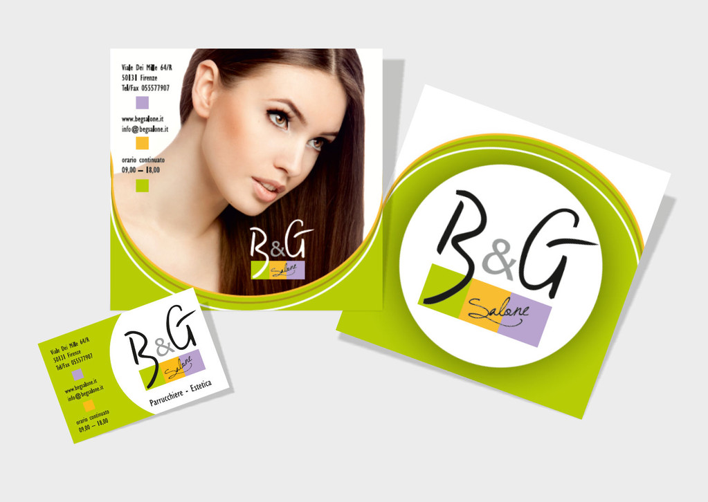 Salone B&G - Firenze - Brochure e biglietto da visita