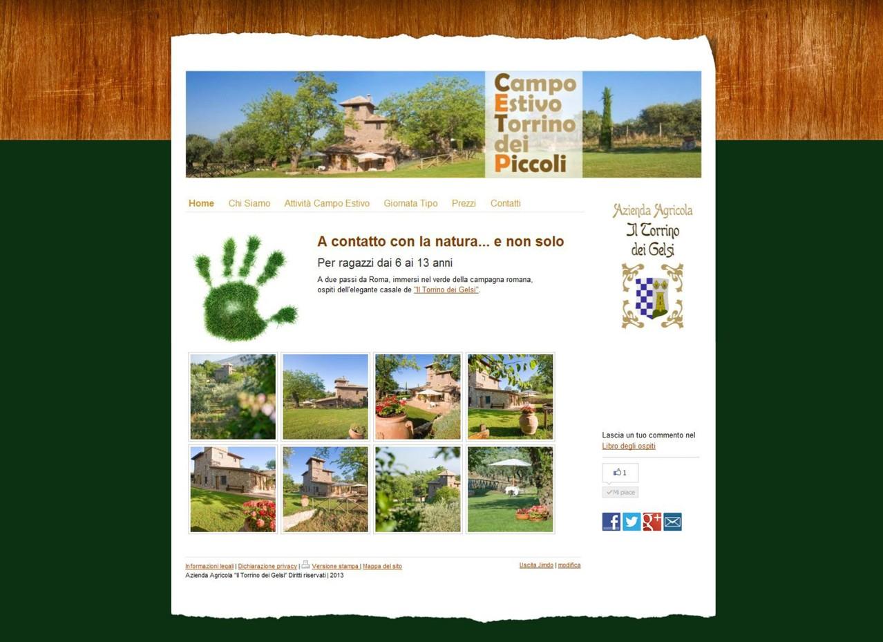 """Azienda Agrituristica """"il Torrino dei Gelsi"""" - Sito Centri estivi Torrino dei piccoli www.torrinodeipiccoli.com"""