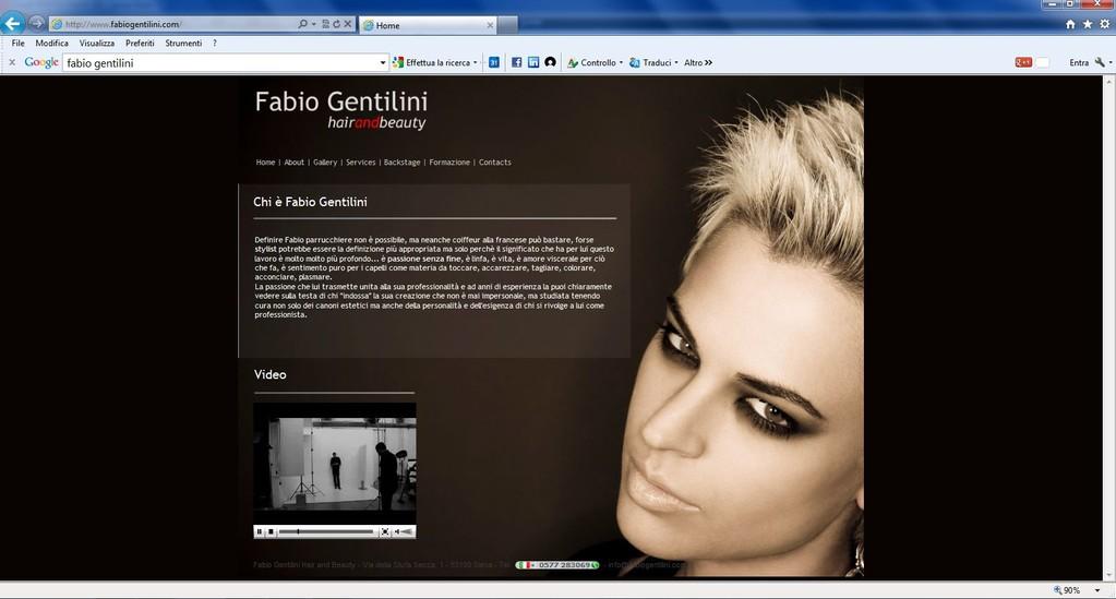 Fabio Gentilini - Realizzazione sito web www.fabiogentilini.it