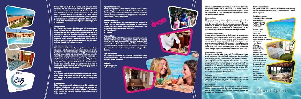 Club Esse - brochure tre ante - retro