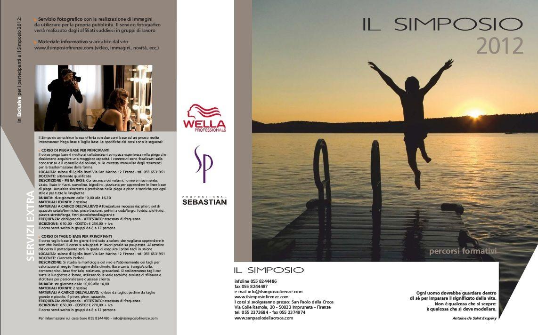 Il Simposio Percorsi formativi - Firenze - Brochure fronte