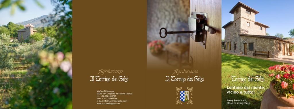 """Azienda Agricola """"il Torrino dei Gelsi"""" - Brochure (fronte)"""