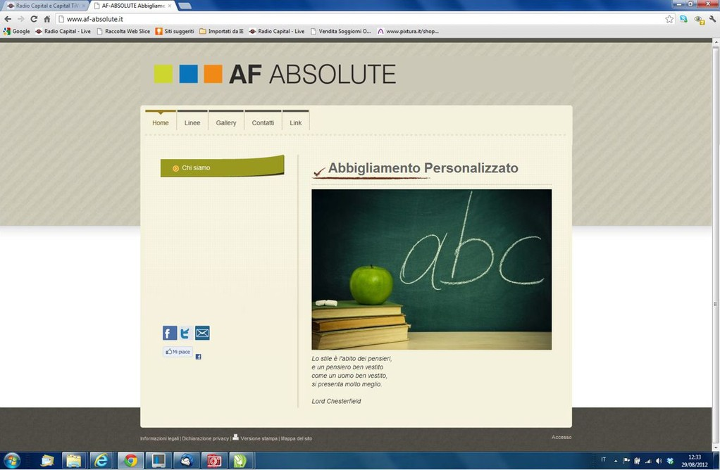 AF Absolute - Realizzazione sito web www.af-absolute.it