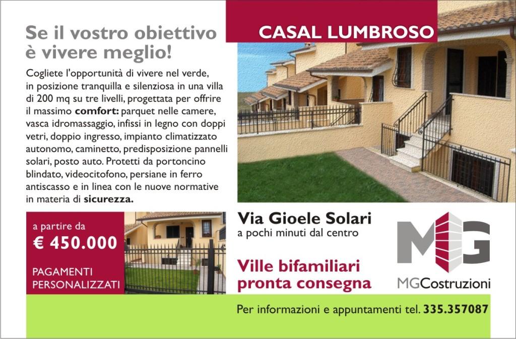 MG Costruzioni - Campagna stampa su rivista di settore Solocase