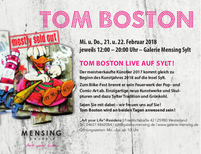 Mensing Galerie exhibition tombostons webseite