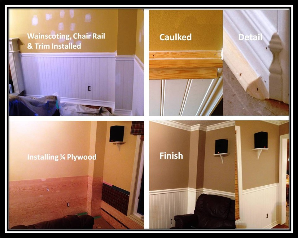 Den Renovation - Wainscoting & Trim Installation and finishing