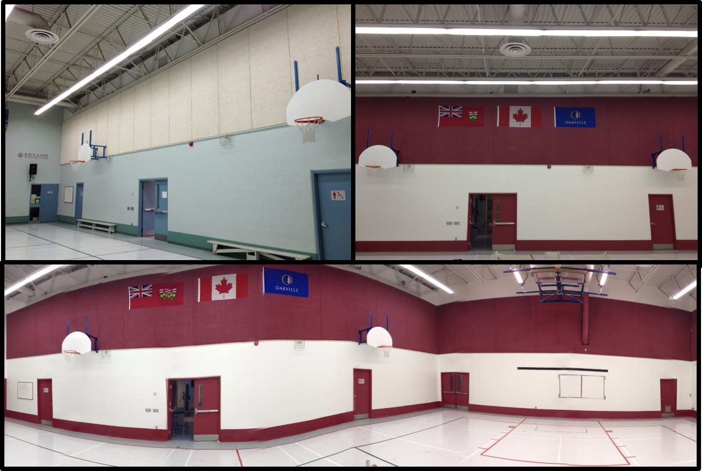 School Gymnasium Repaint - Custom Color Design