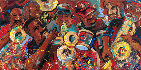 Rebirth Brass Band (peinture - 2013)