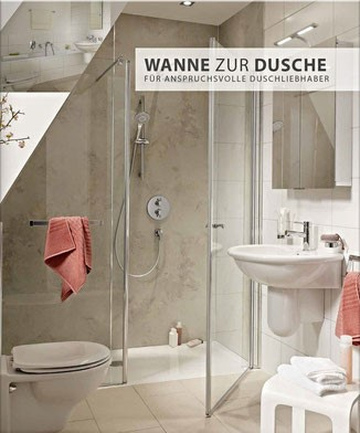 barrierefreies bad wanne zur dusche begehbare. Black Bedroom Furniture Sets. Home Design Ideas