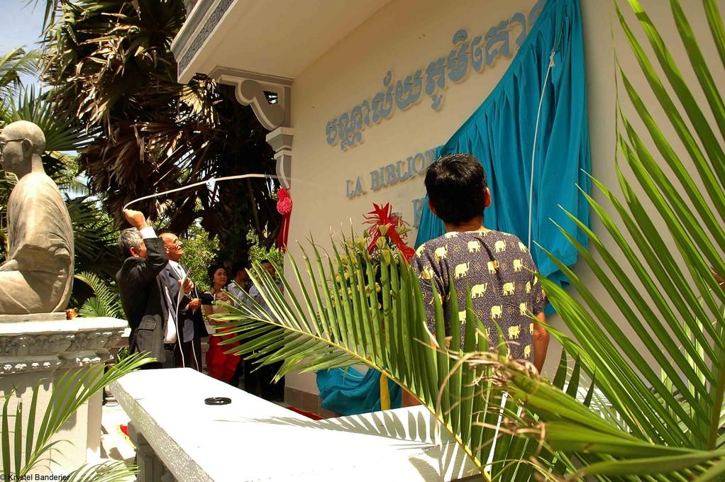Inauguration de la bibliothèque financée par l'association