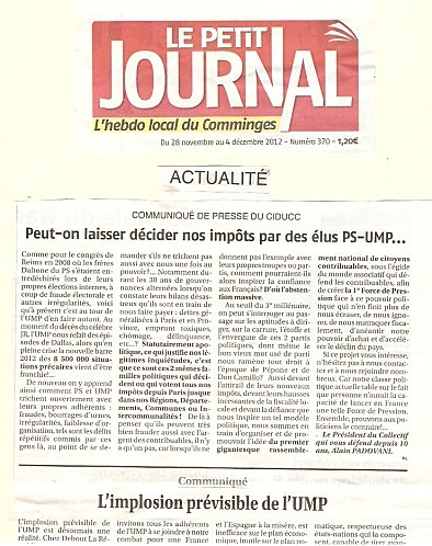 Seconde Publication:                     Le Petit Journal