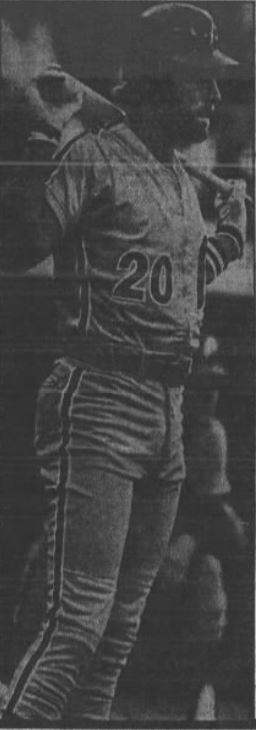 Mike Schmidt is one of the most-feared hitters In baseball. (Staff Photos –  Bud Skinner)