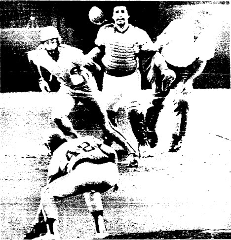 Garry Maddox' hopper to Vern Ruhle was ruled a catch by the umpires.