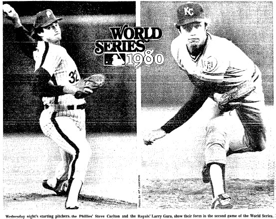 The two starters:  Steve Carlton and Larry Gura.