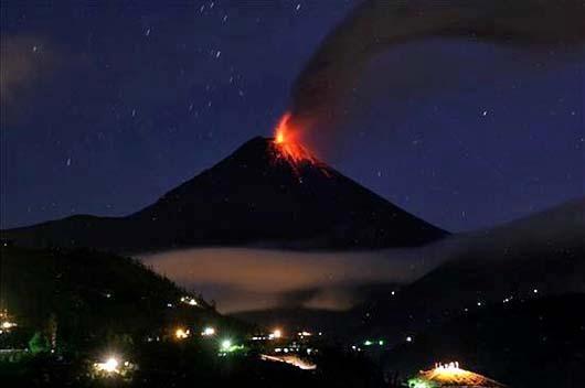 Volcán Tungurahua. Dic 2012