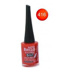 Vernis à ongles rouge orange