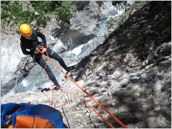 Départ du canyon des Acles