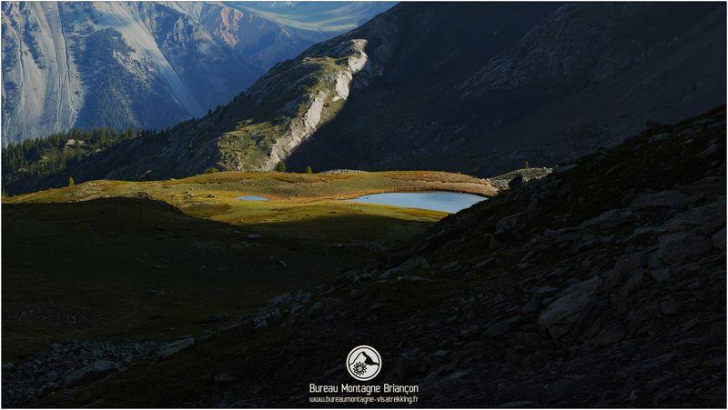 lac de montagne à briançon