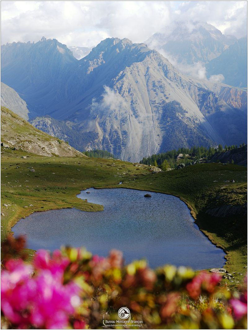 rando lac de montagne à briançon, serre chevalier, montgenèvre, vallée de la clarée
