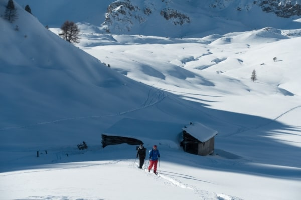 rando à ski sur briançon