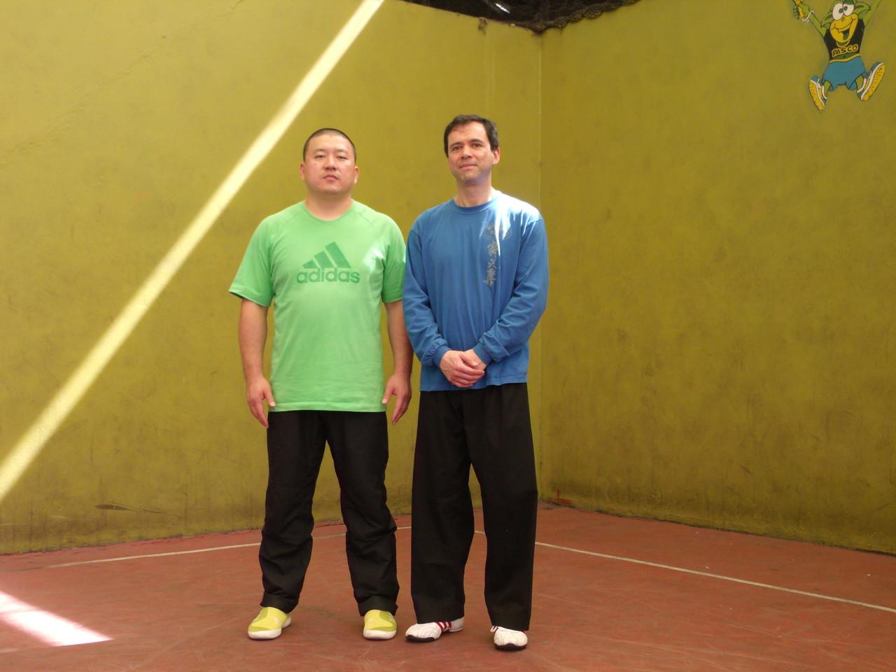 Master Chen YingJun e Isaias Morales (Instructor Cxwta-Chile)