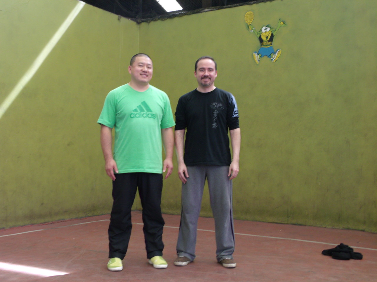 Master Chen YingJun y Claudio Pinto (Instructor Titular Cxwta-Chile)