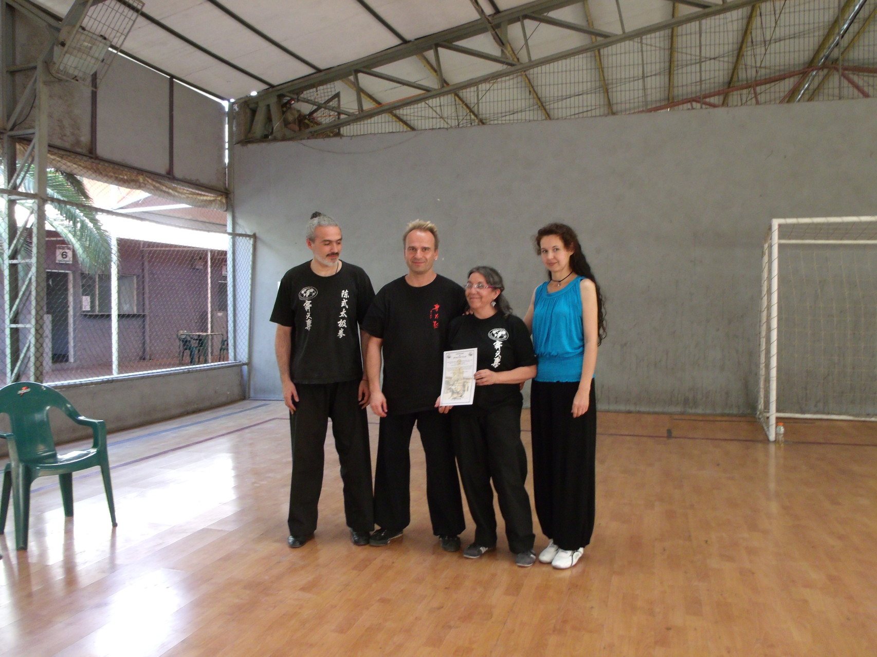Instructora Certificada Nivel 2 con Master Jan Silberstorr, Miguel Sabaj, Celeste Ravanal (Instructores Formadores)