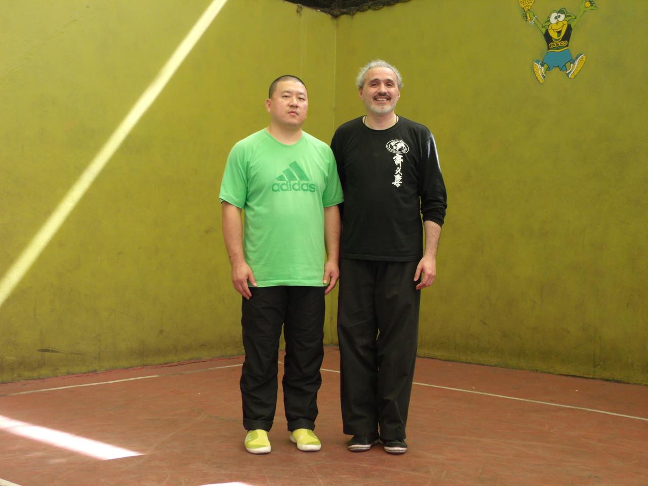 Master Chen YingJun y Miguel Sabaj (Director Cxwta-Chile)