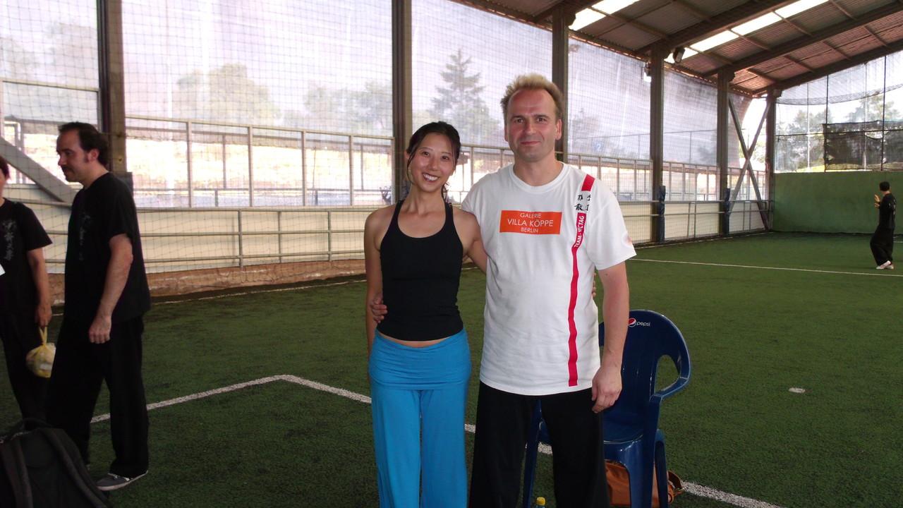 Monica Han (de Brasilia) y Master Jan Silberstorff
