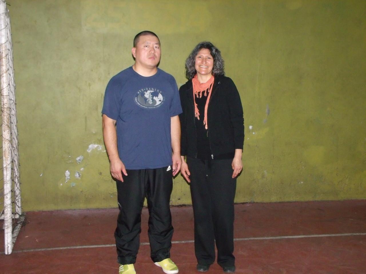 Master Chen YingJun y Marcia Calderón (InBi)