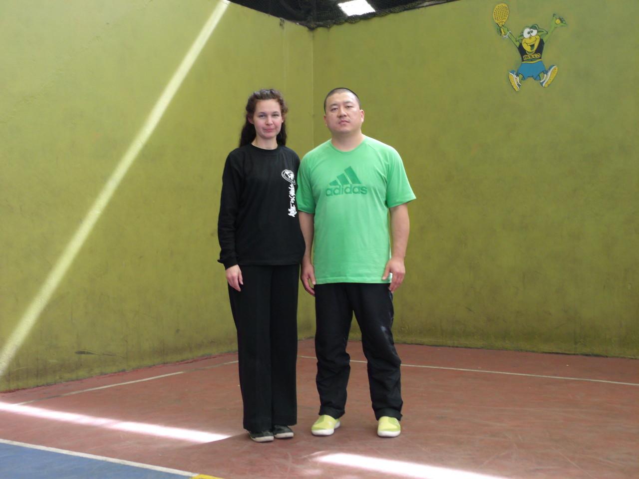 Master Chen YingJun y Celeste Ravanal (Instructora Titular Cxwta-Chile)
