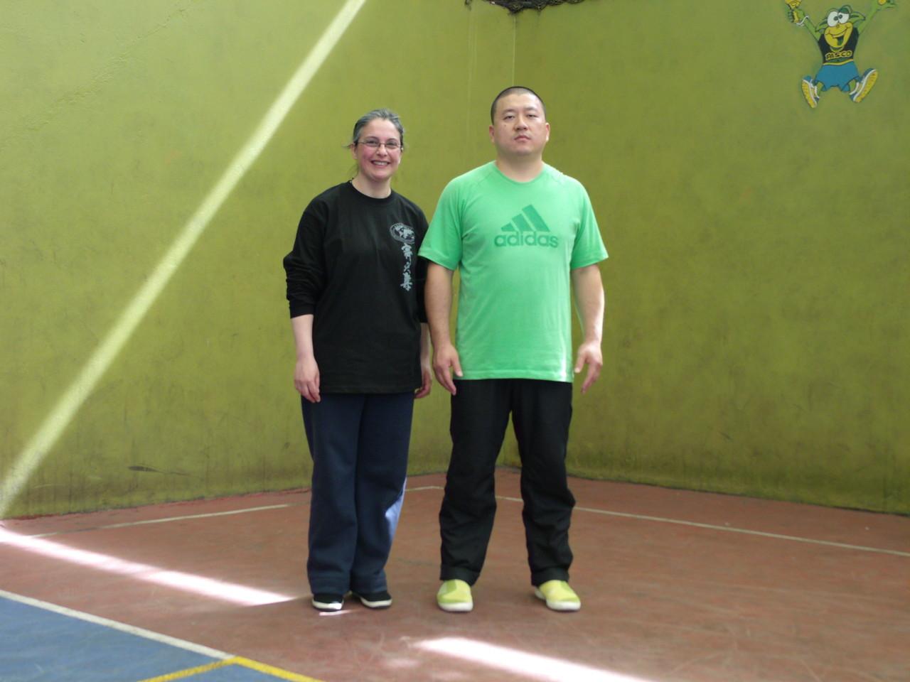 Master Chen YingJun y Vilma Petris (Instructora Cxwta-Chile)
