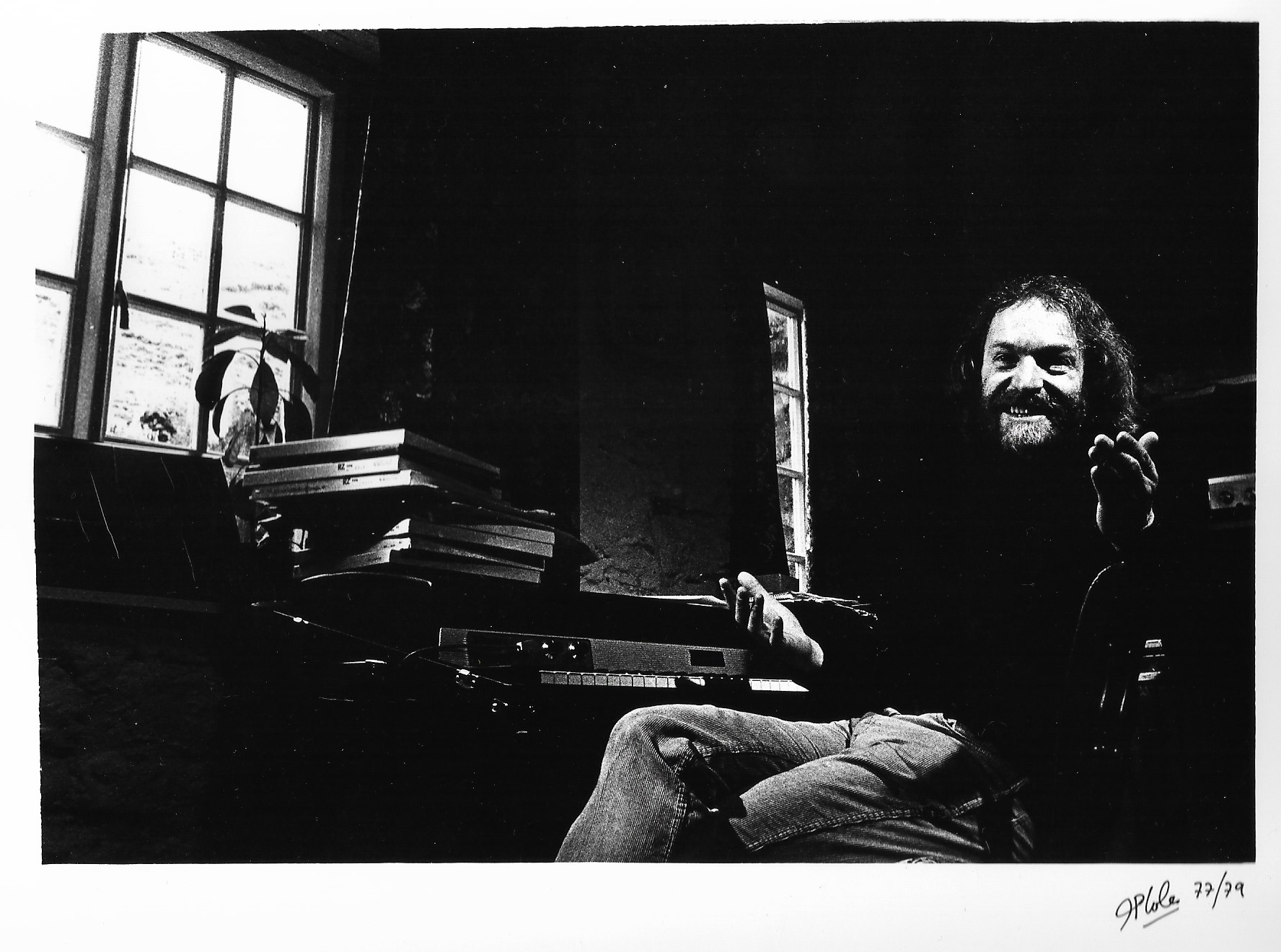 Taken at Neil's Youlgrave home in 1977 by John Coles