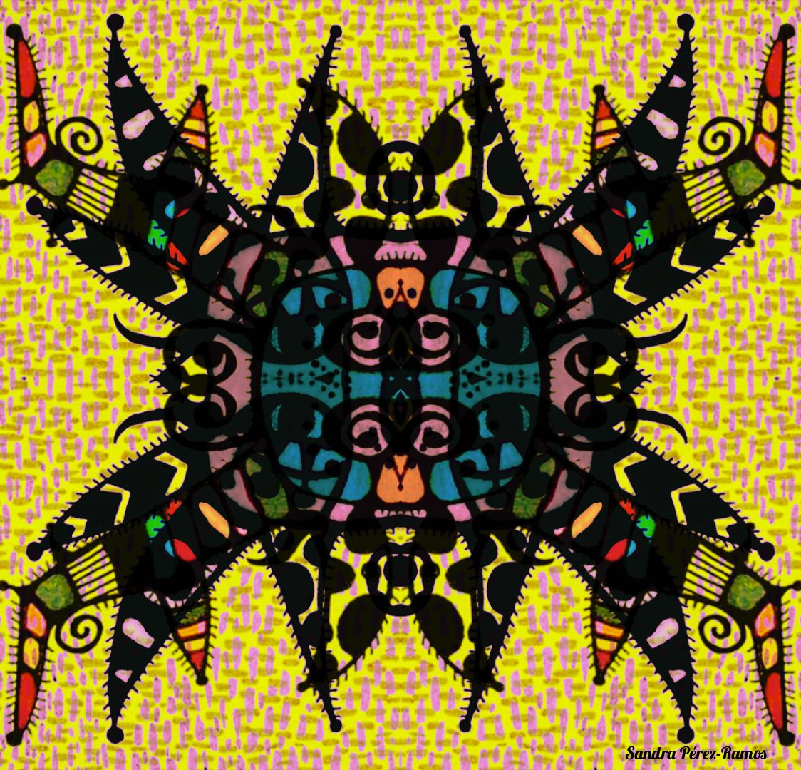 Vejigante X. Digital, mixed media. Sandra Pérez-Ramos.