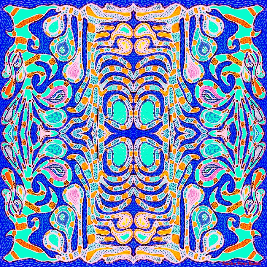 Coral Patterns. Digital, mixed media. Sandra Pérez-Ramos.