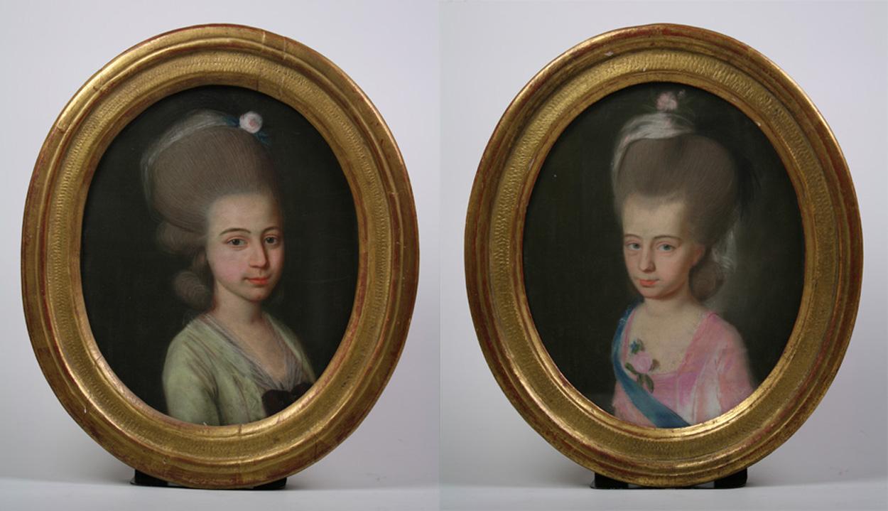 Bildnisse Clara Marie Caroline Eckstein und Charlotte Eckstein