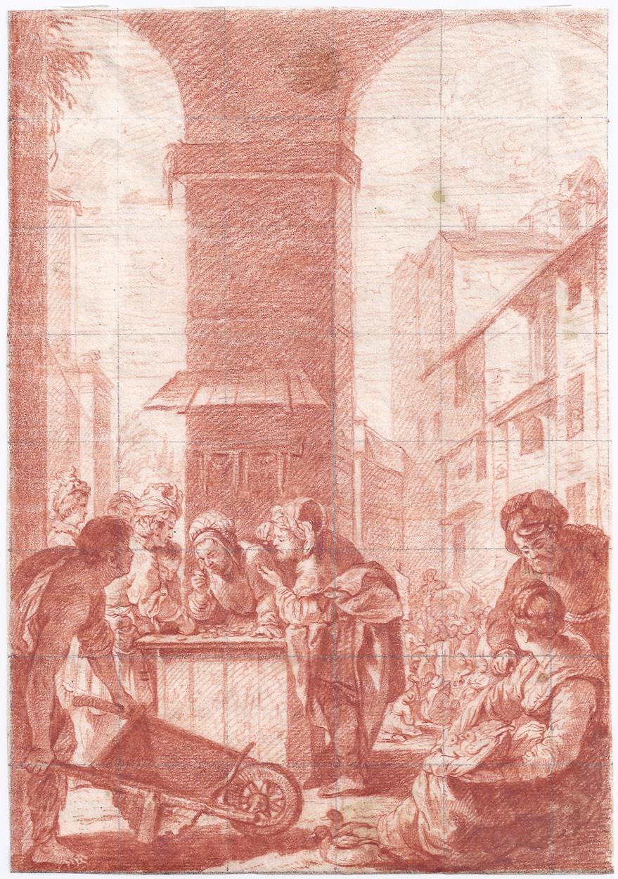 Niederländisch, Italienische Marktszene