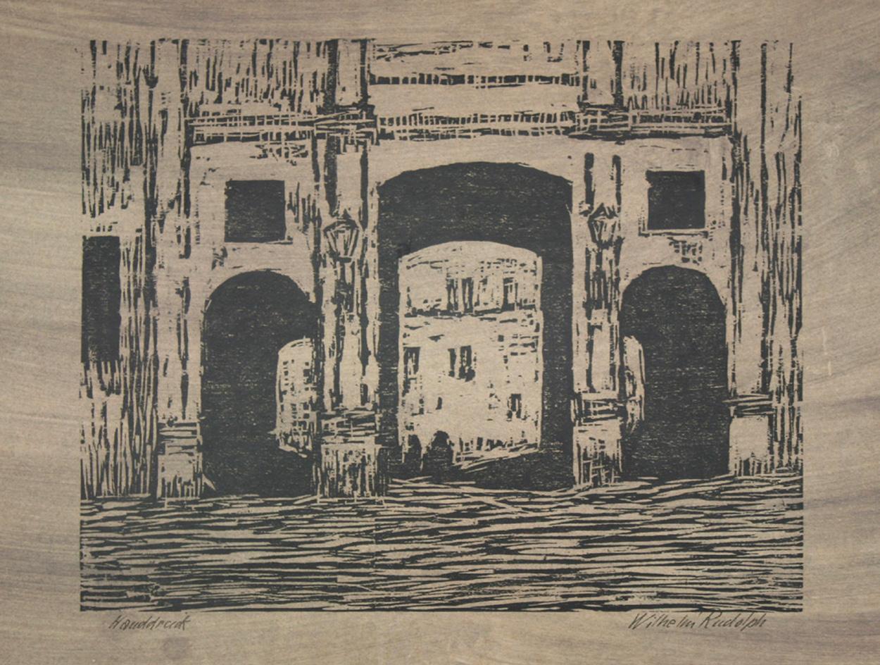 Wilhelm Rudolph, Blick durch ein Portal