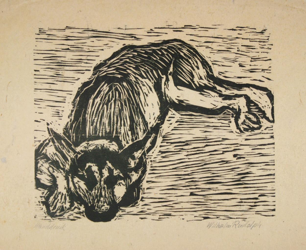 Wilhelm Rudolph, Ruhender Schäferhund