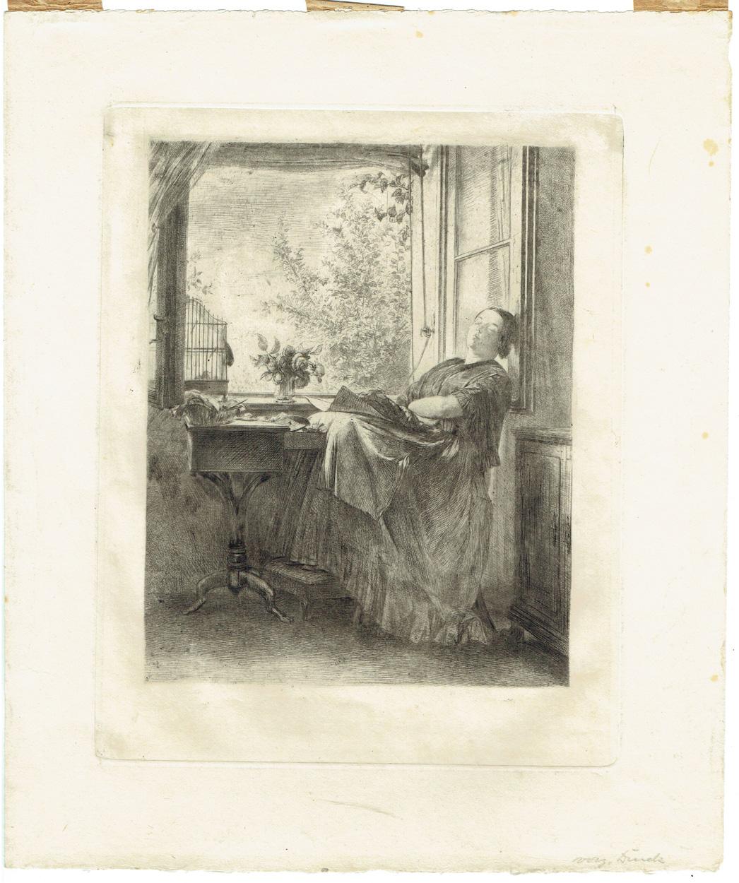 Adolph von Menzel, Die schlafende Näherin