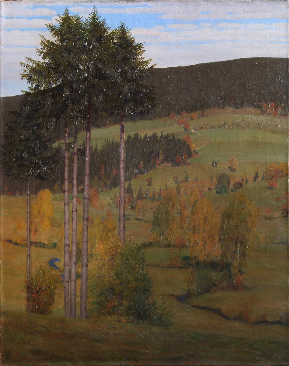 Richard Birnstengel, Sächsische Herbstlandschaft