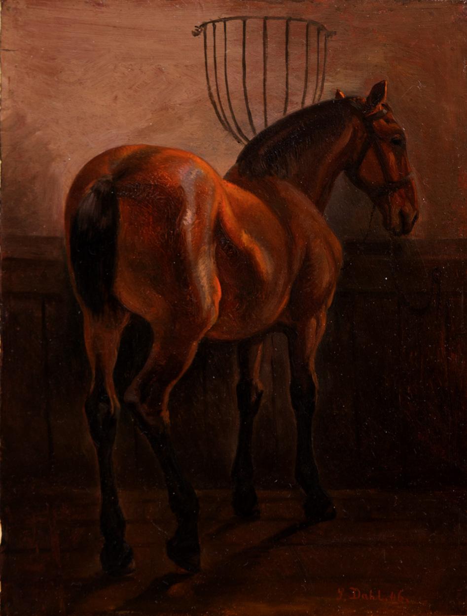 Siegwald Dahl, Pferd im Stall