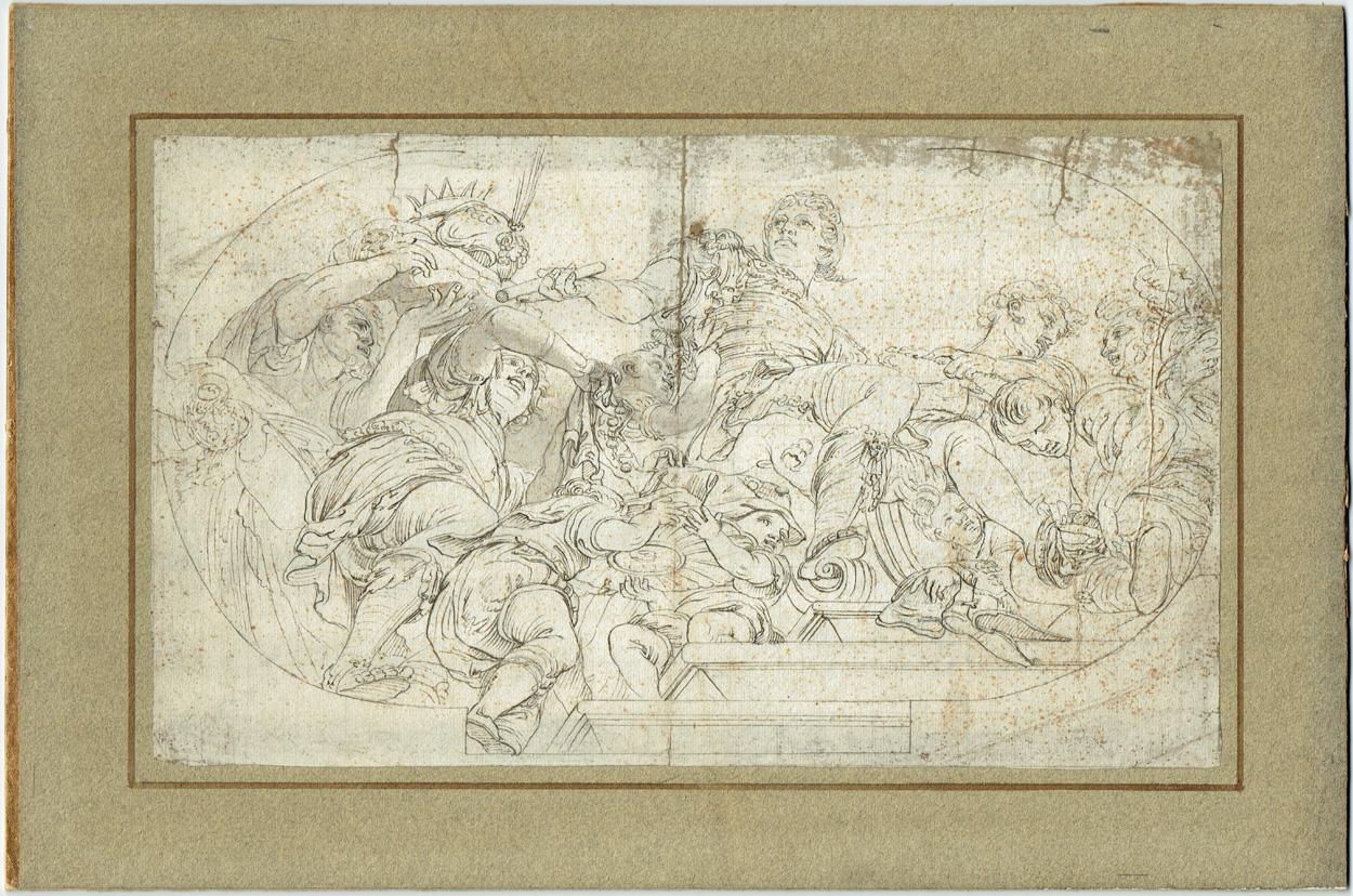 Klassizistische Entwurfszeichnung