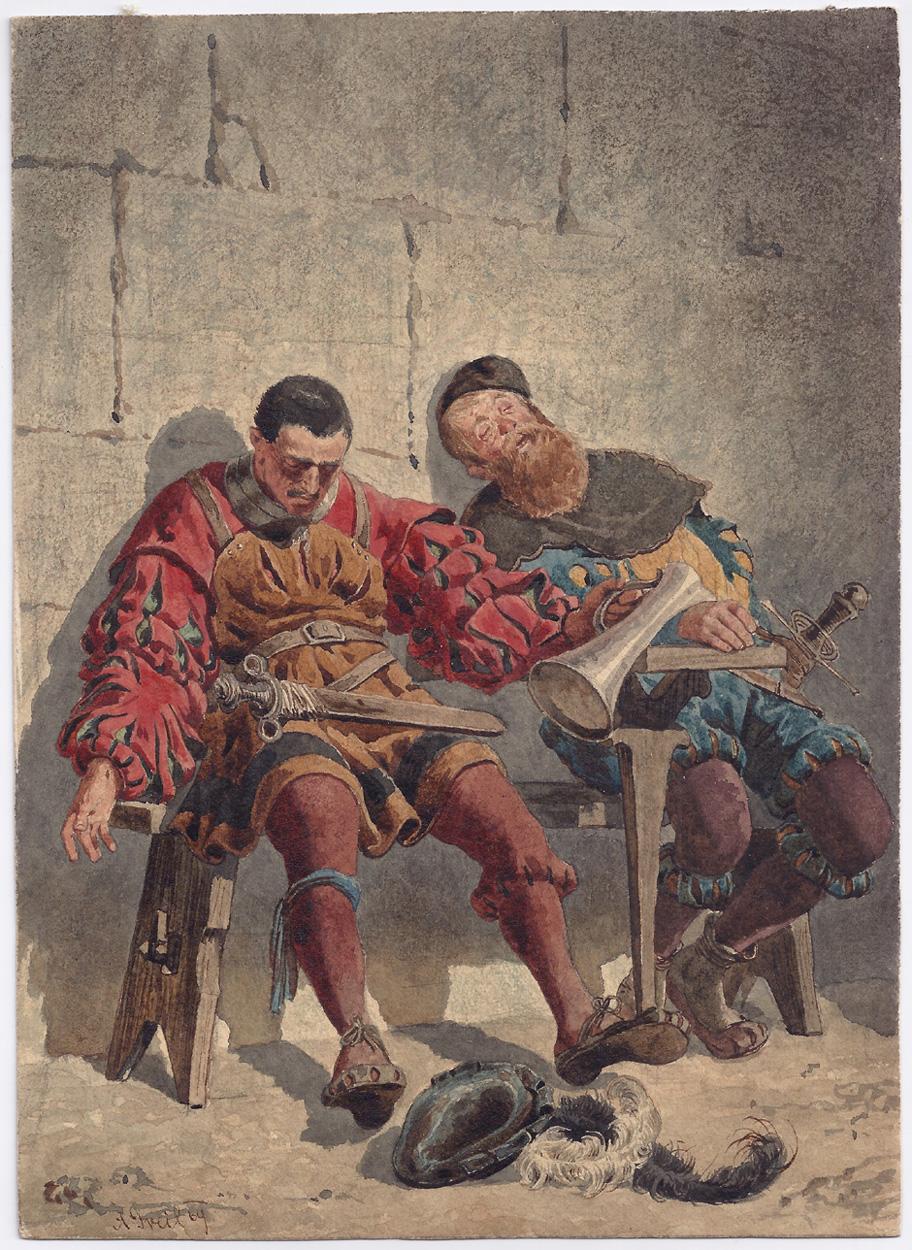 Alois Greil, Betrunkene Landsknechte