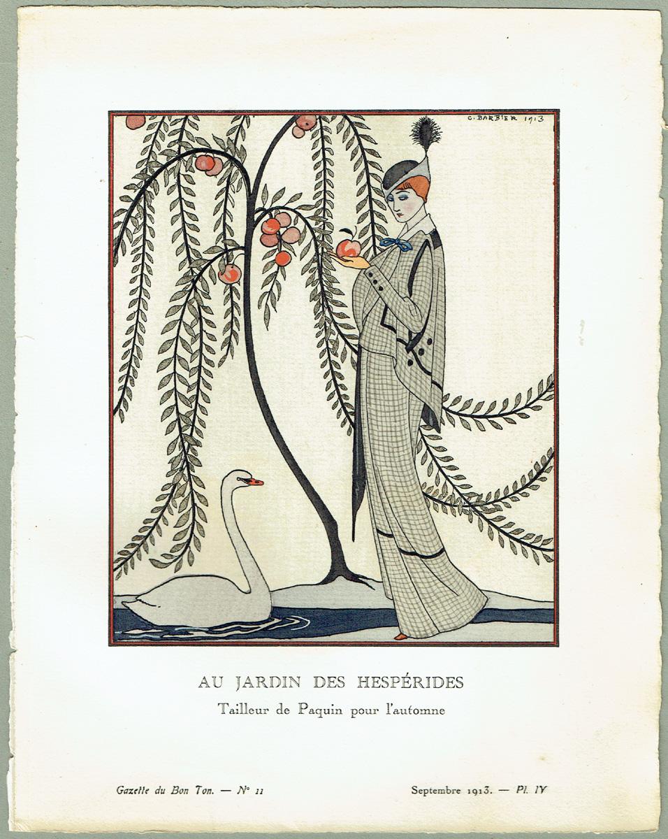 Georges Barbier, Au  jardin des hespérides, Gazette du Bon Ton