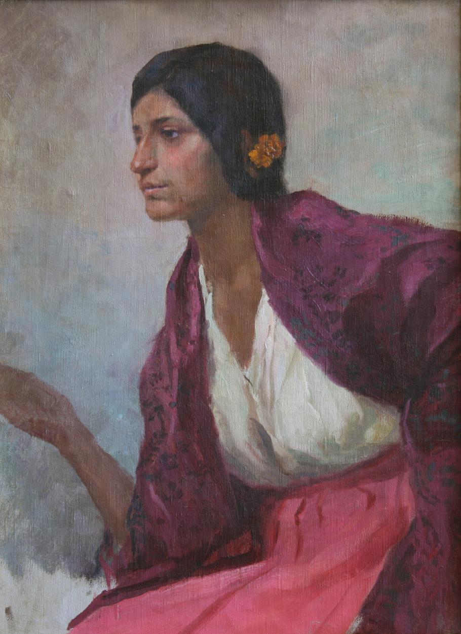 Alois Hans Schram, zugeschrieben, Italienerin