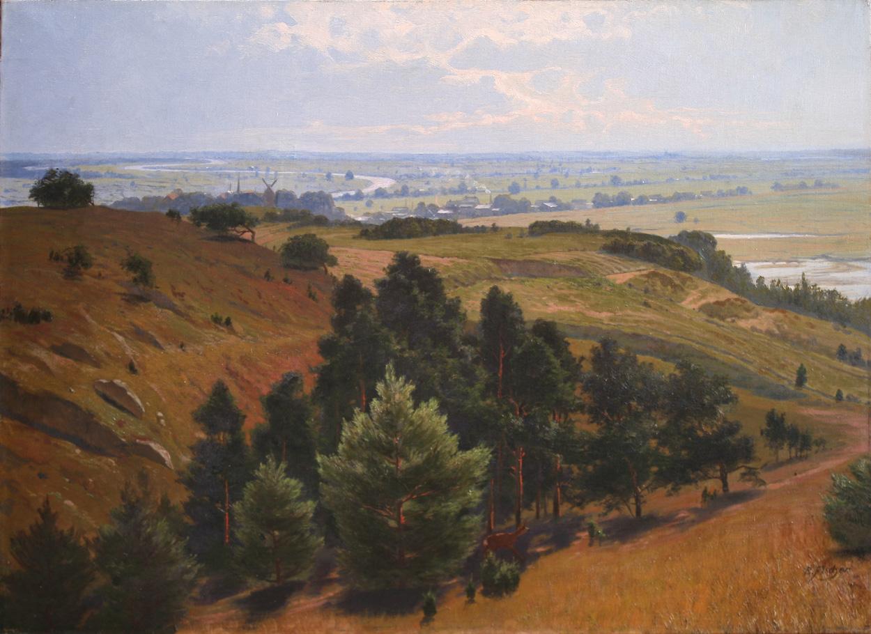 Richard Fischer, Flusslandschaft (Oderbruch?)
